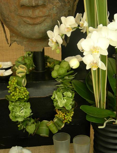 Florale Kette – Buffet Dekoration