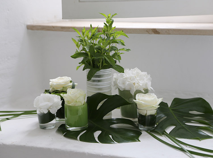 Florales Ensemble für leise Plätze