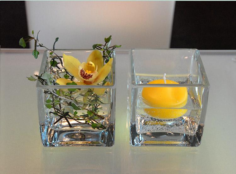Glaskuben in verschiedenen Größen
