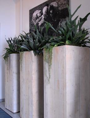 Dekorative Holz Säulen – Raumdekoration Hafenwerk
