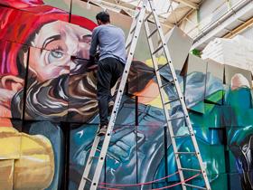 Urban Art Graffiti Off Location Dekoration Hafenwerk