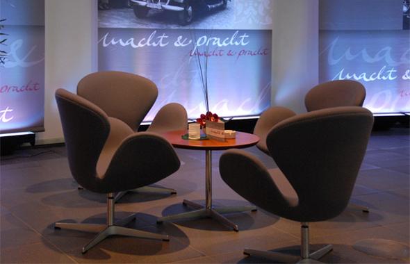 Lounge Automotive Event Dekoration Hafenwerk