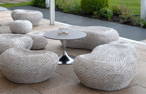 Lounge Wasserhyazinthe Natur Organic Dekoration Hafenwerk