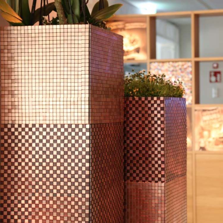 Mosaik Säule – Floristik Dekoration Hafenwerk