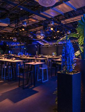 Abendveranstaltung Halle 02 Heidelberg – Firmenevents Dekoration Hafenwerk
