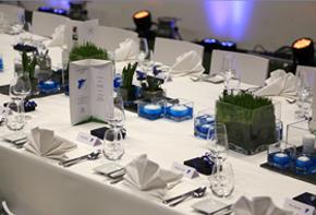 Event TSG Hoffenheim Tischdekoration Hafenwerk