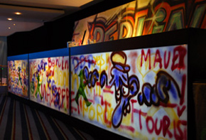 Counter Beton Graffiti – Bars, Buffet & Empfang Hafenwerk