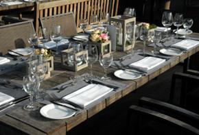 Tischkultur rustikal und charmant – Tischdekoration Hafenwerk