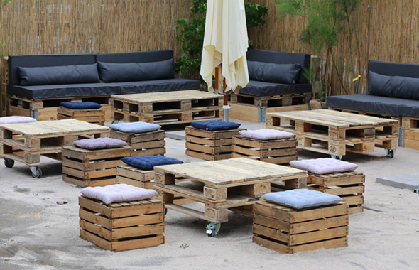 Kisten Lounge Outdoor & Sommerfest Hafenwerk