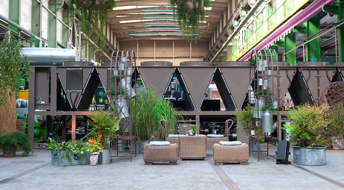 Indoor Lounge und Pflanzendekoration