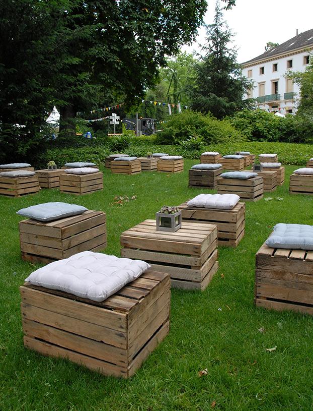 Holzkisten Lounge