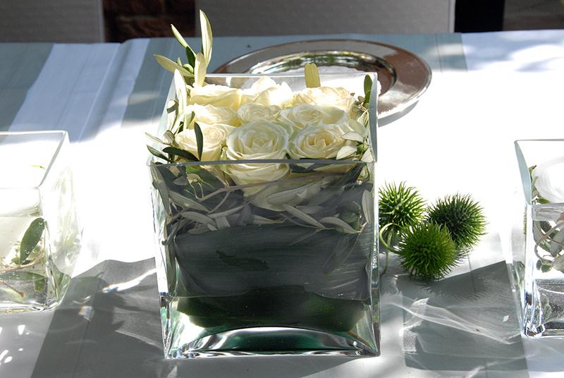 Rosen im Glaskubus